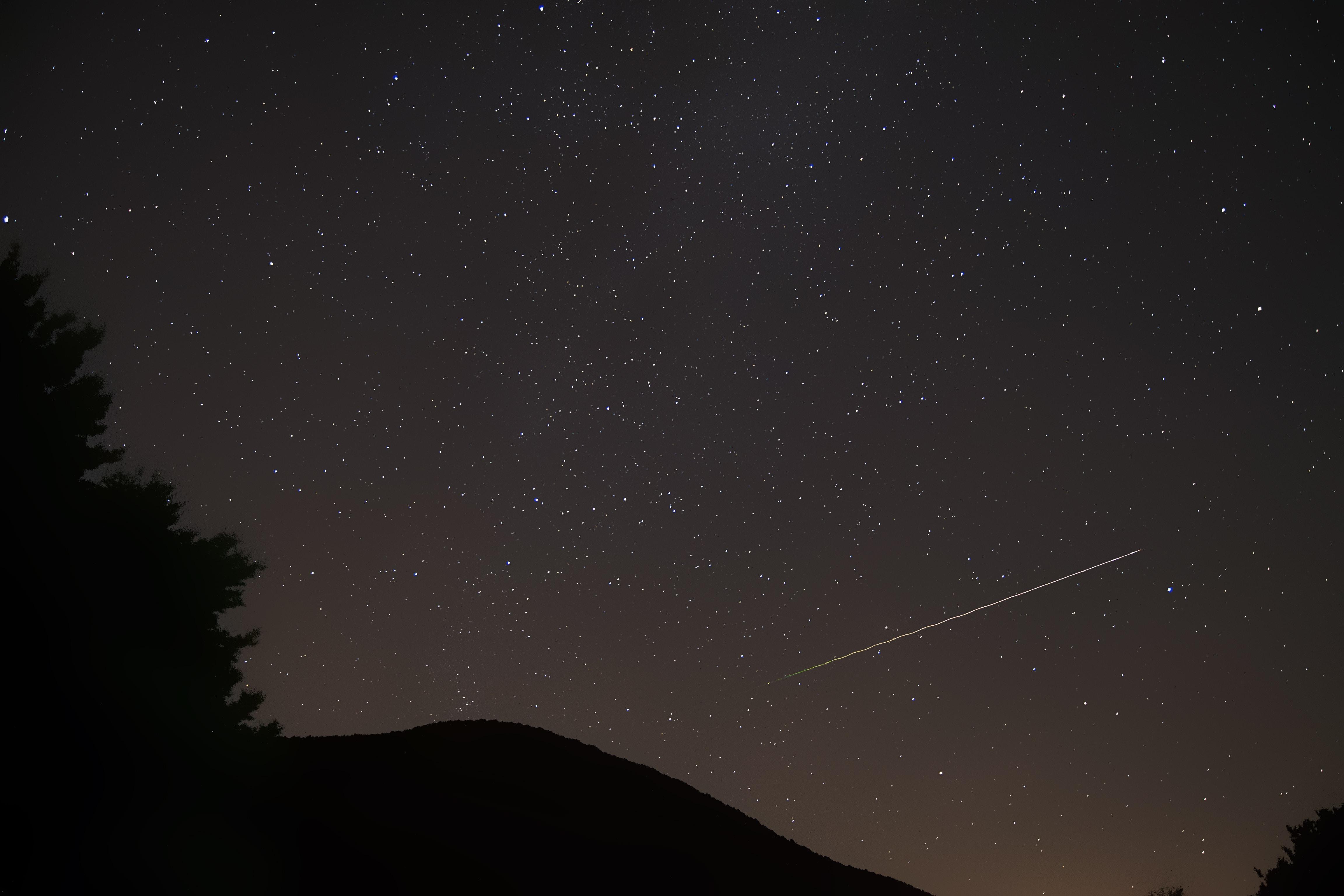 photographof falling star