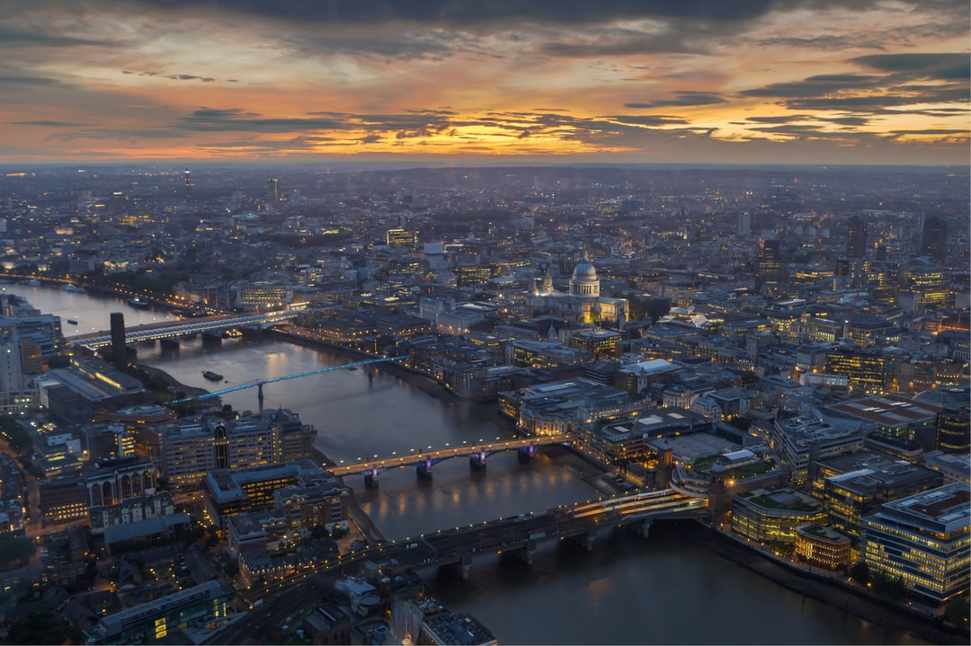Shot from the top of The Shard