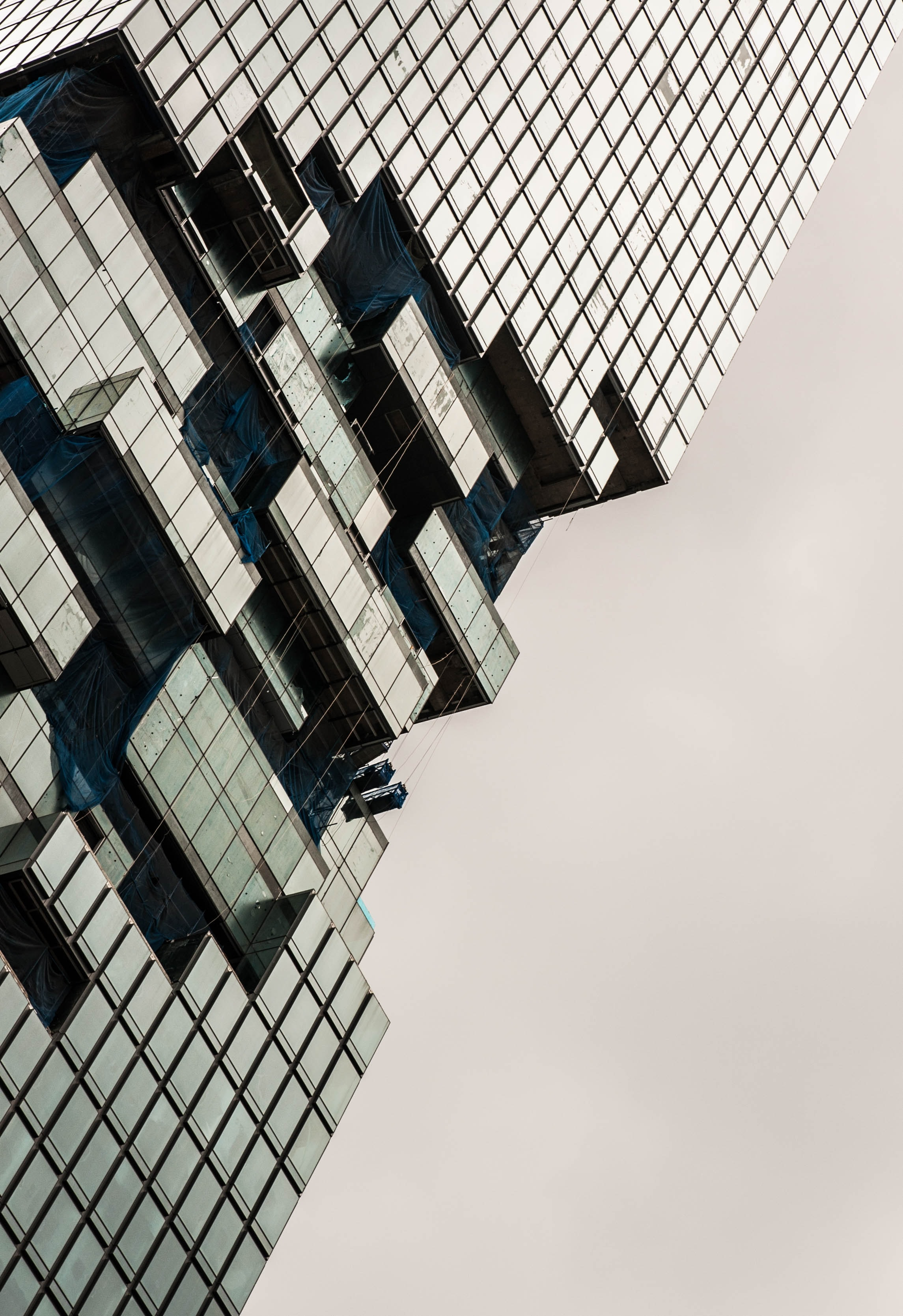 architectural photography of glass building
