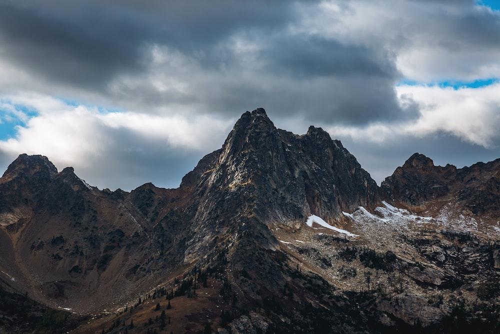photo of black rock mountain