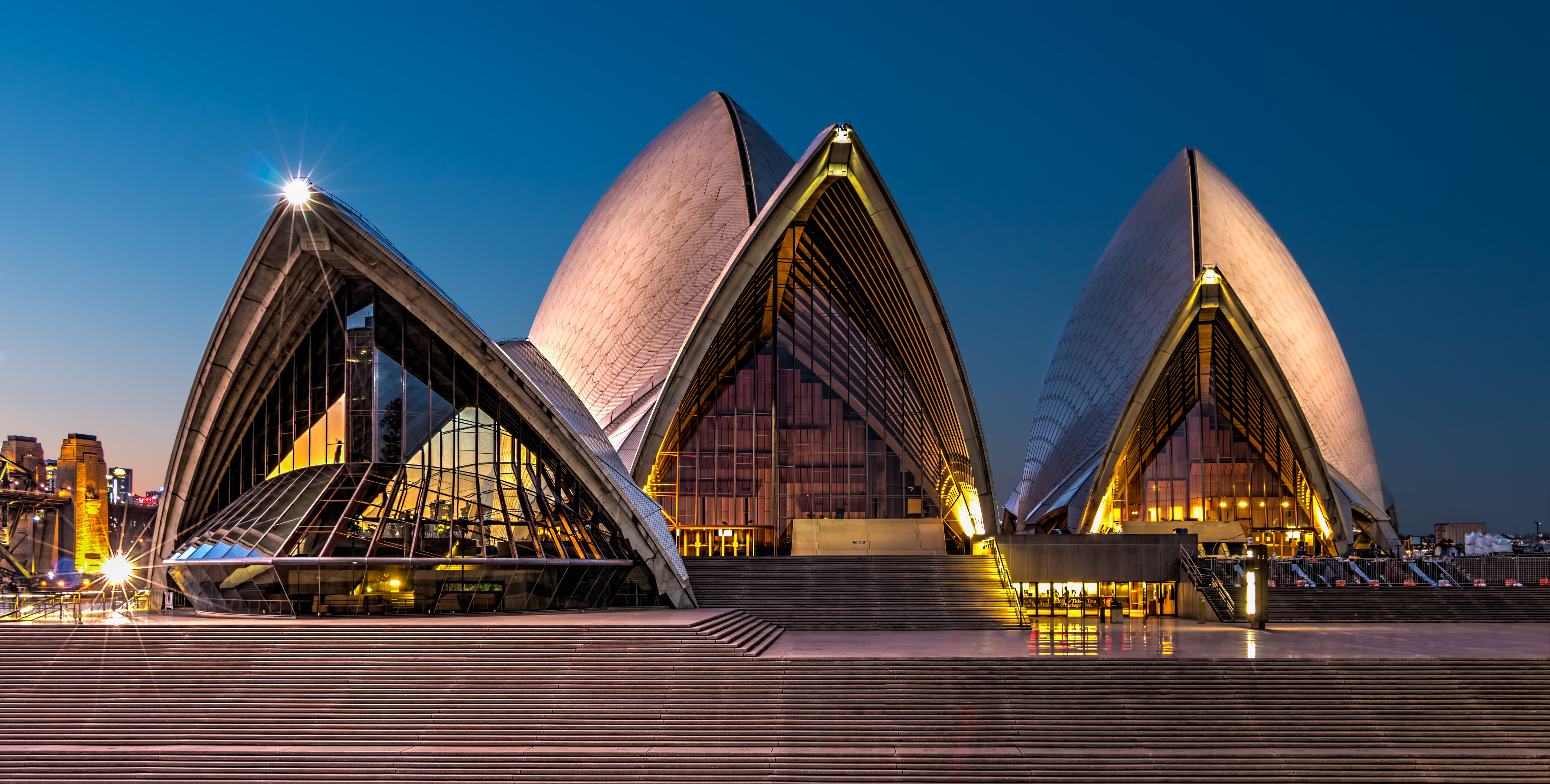 The Sydney Opera House just after sunset
