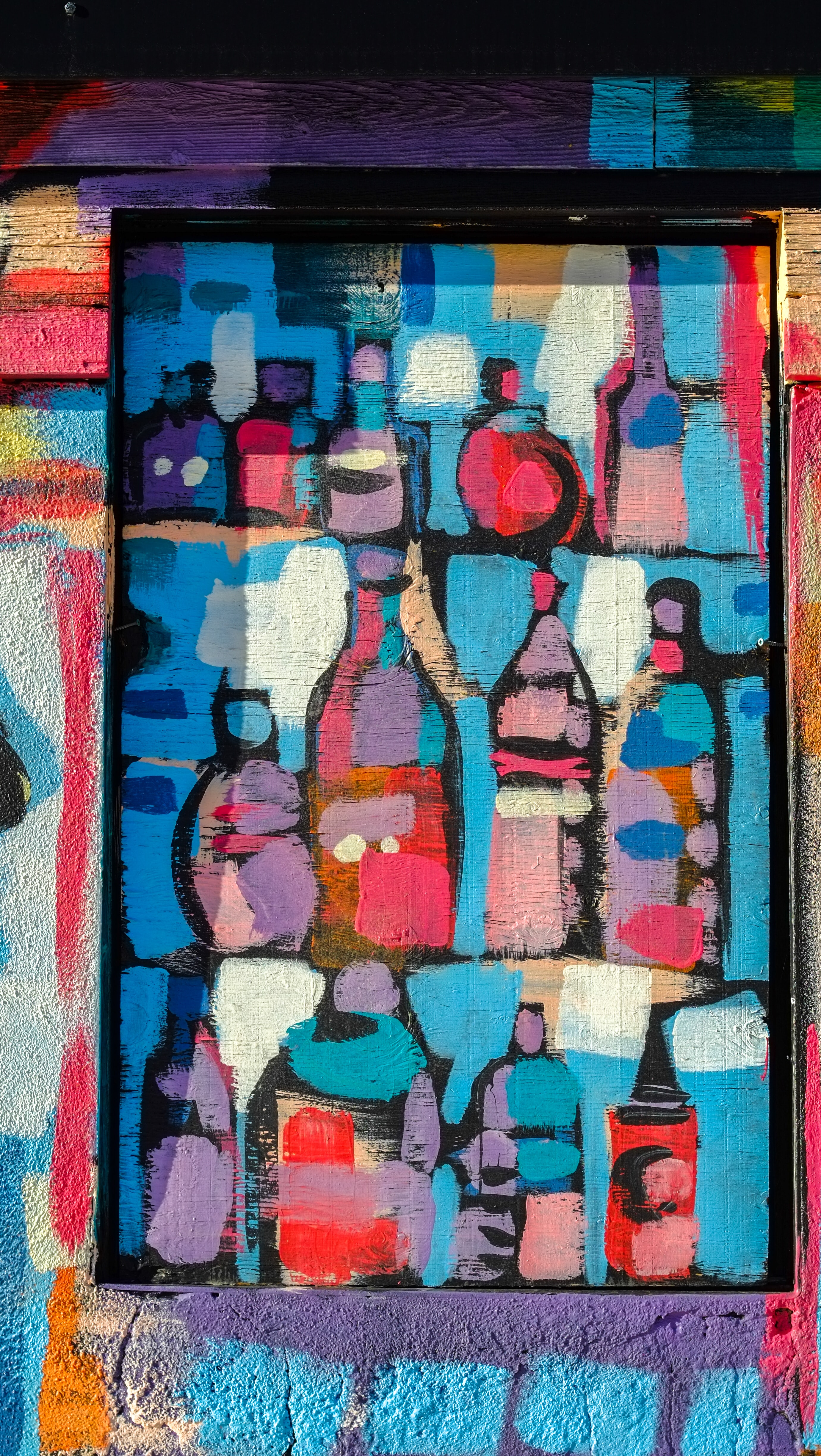 painting of bottles