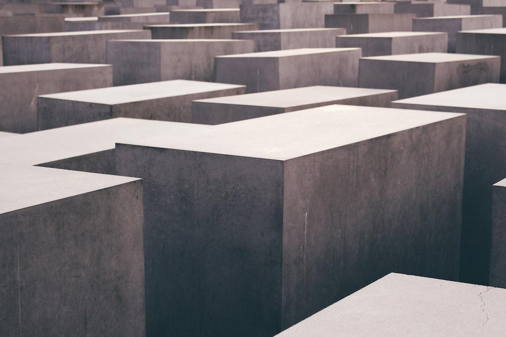 landscape photography of maze platform