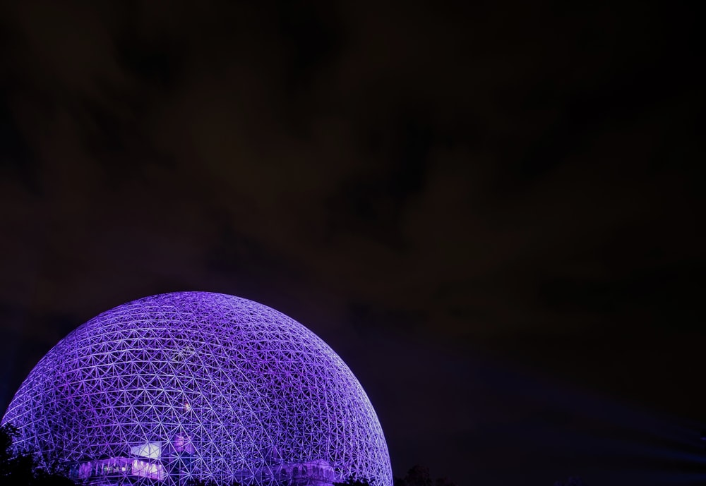 purple dome illustration