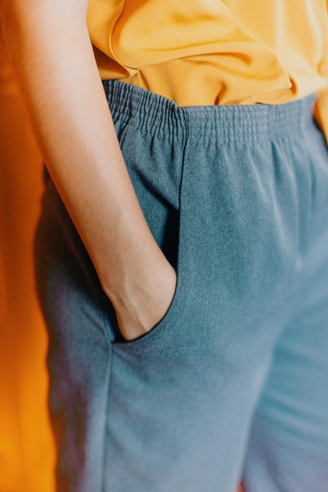 Hand on Pants.
