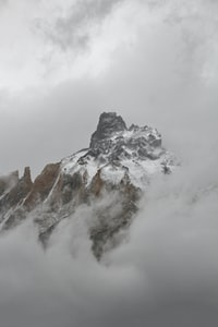 aerial view photography of snowy mountain