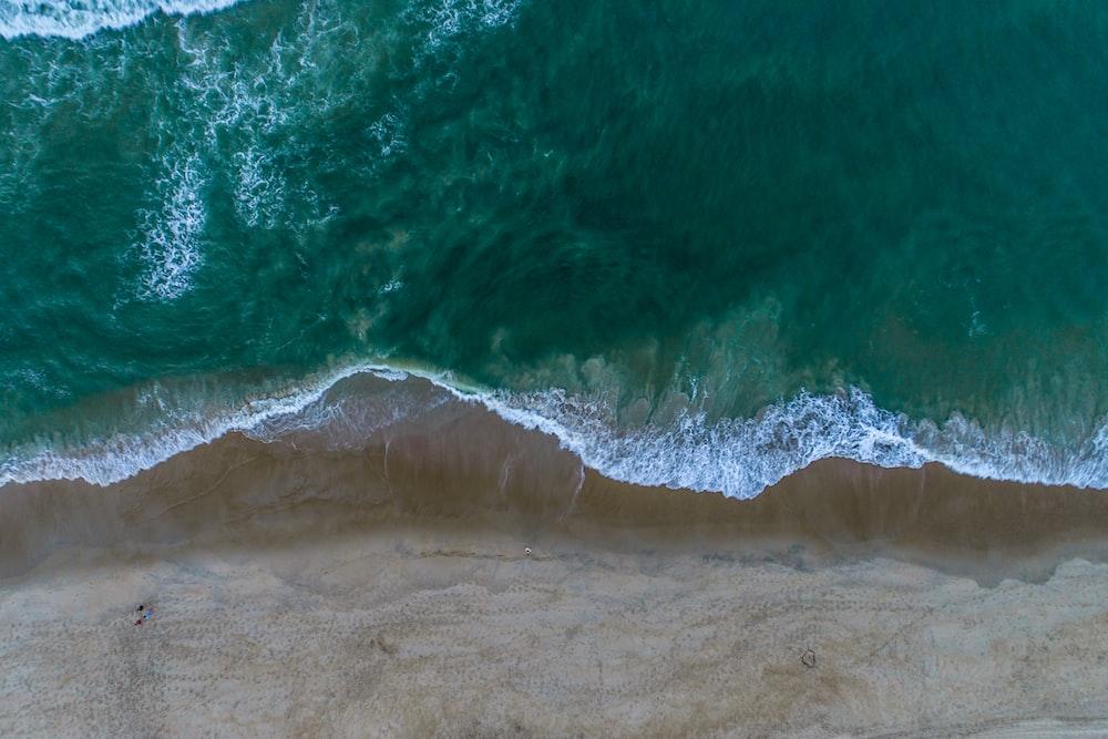 aerial photo of shoreline