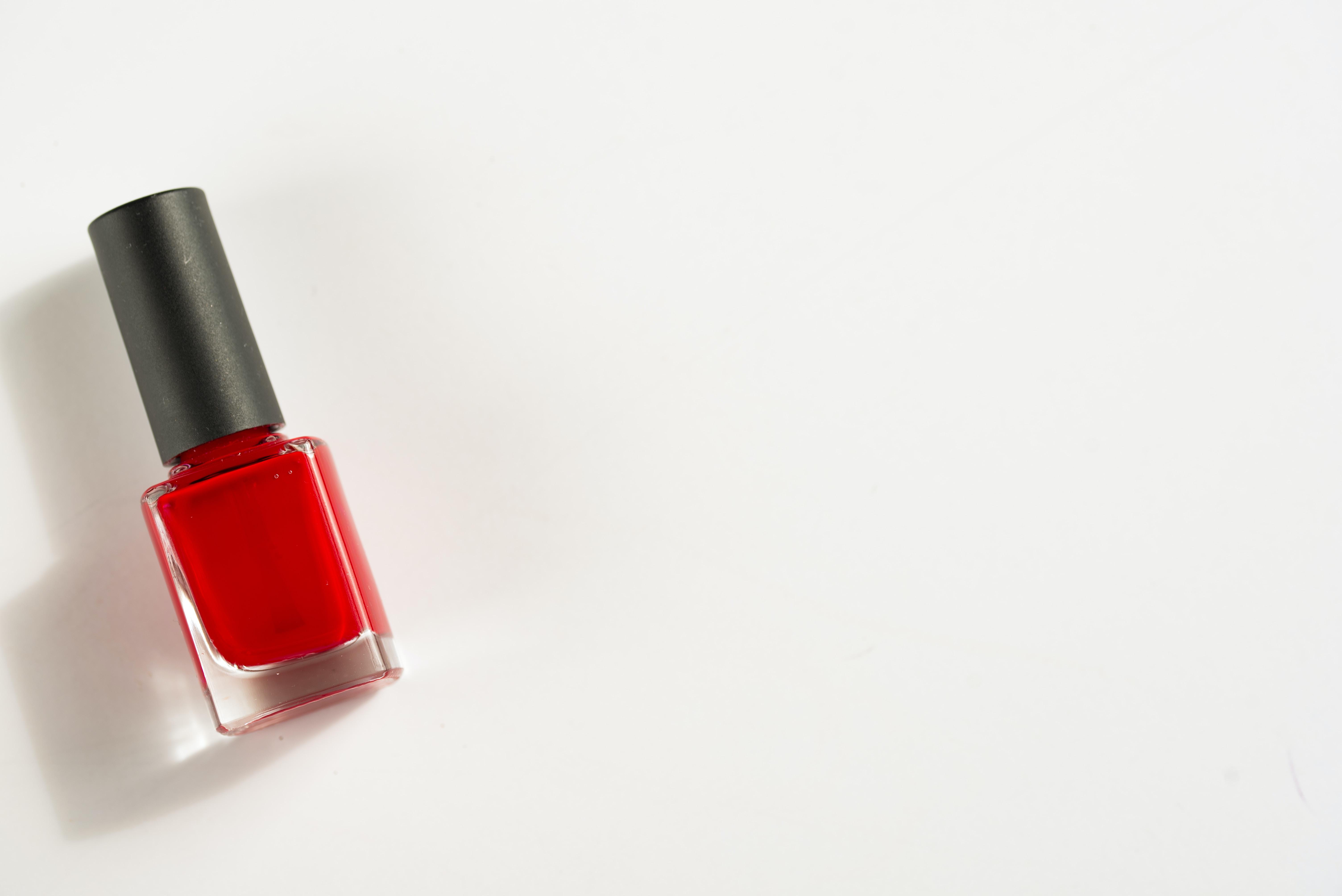 photo of red nail polish