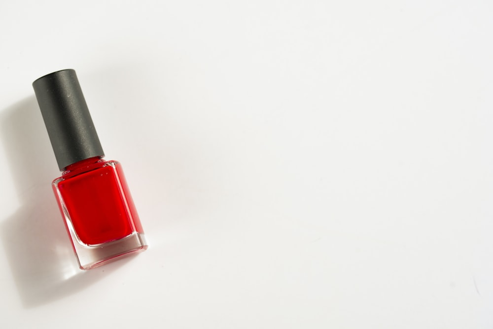 photo of red nail polish