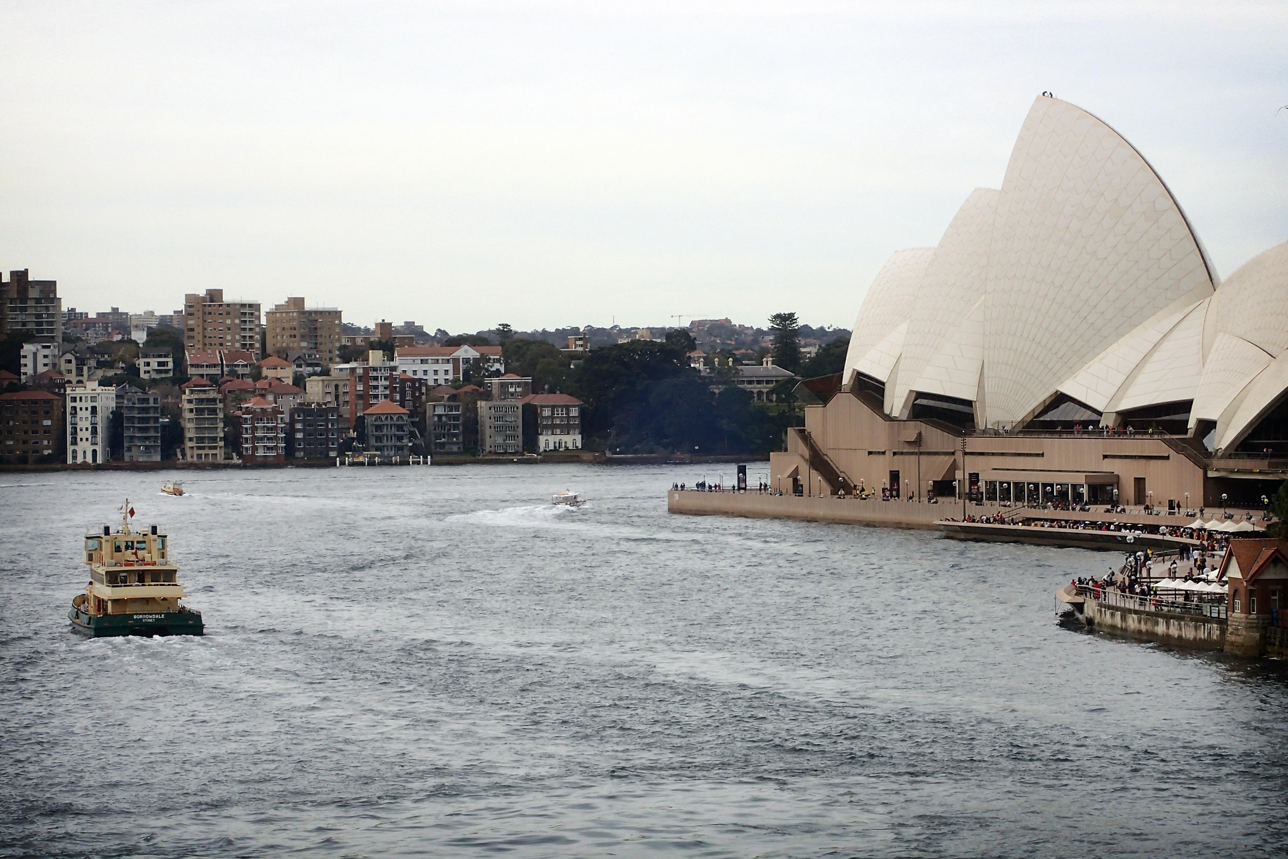 boat near Opera House, Sydney, Australia