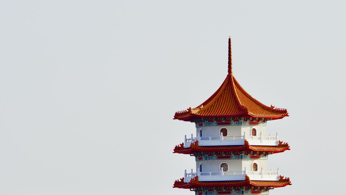 tower at the chinese garden, Singapore