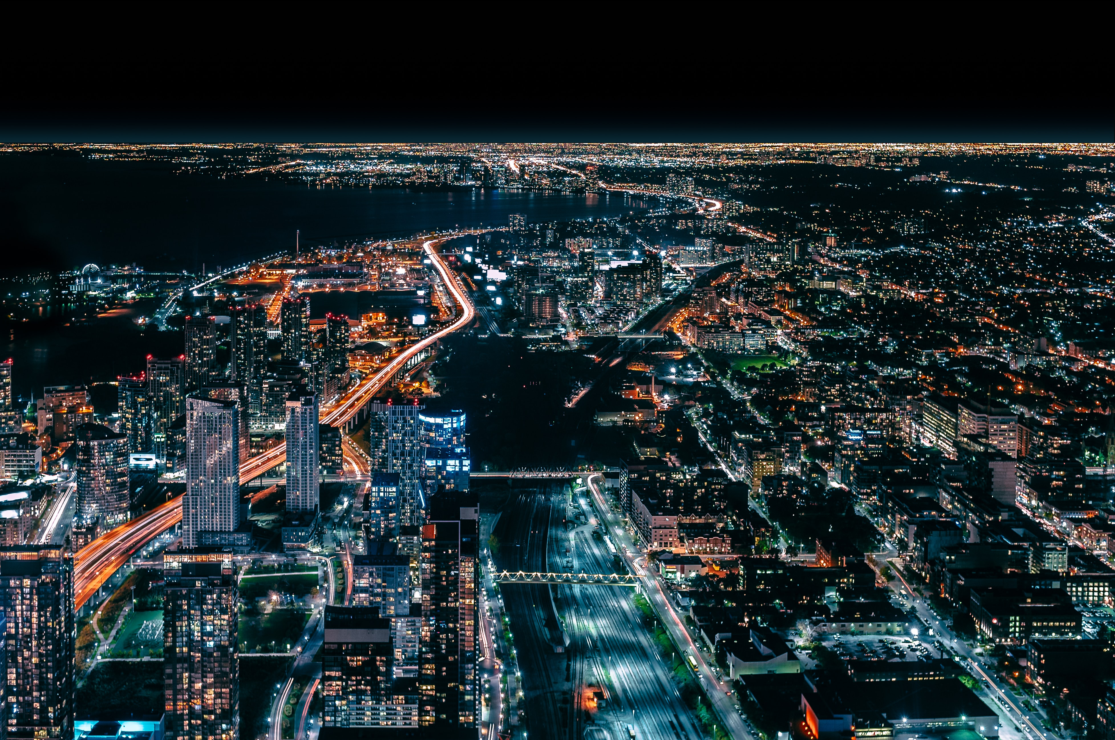 time lapse photography of city during night time