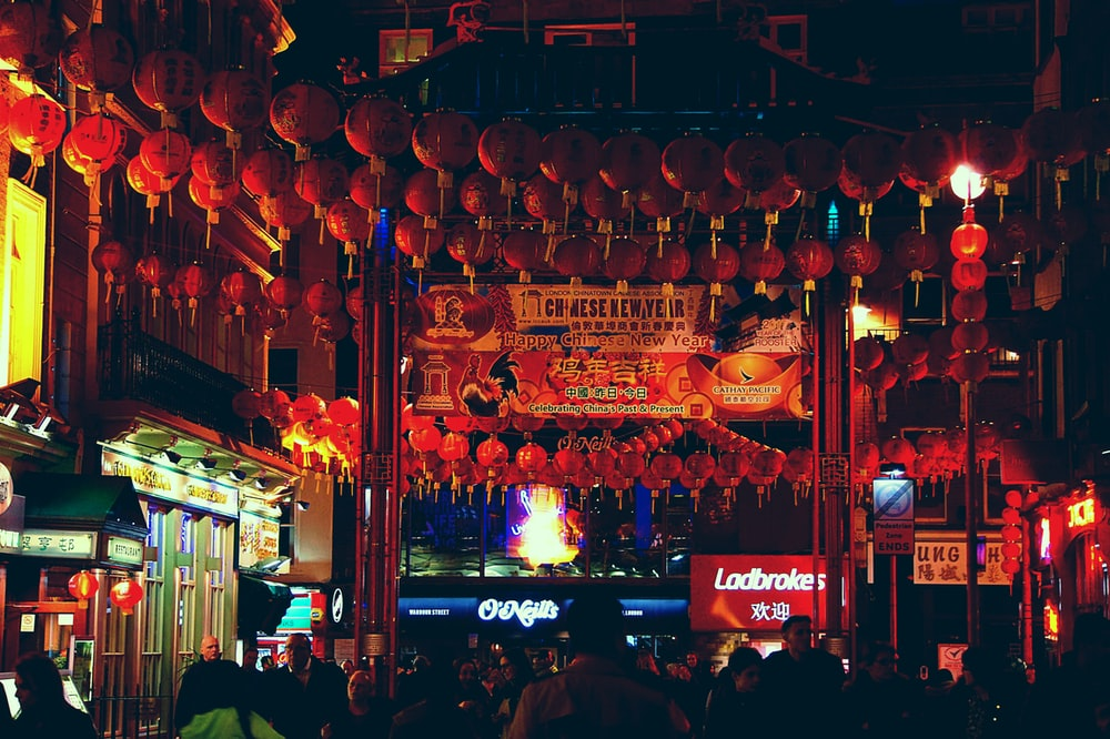 Paper lanterns in Chinatown | HD photo by Boris Stefanik