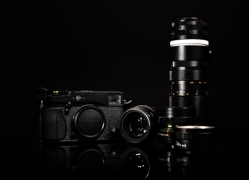 low light photography of SLR camera kit