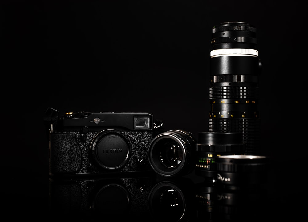 low light photography of SLR camera kit