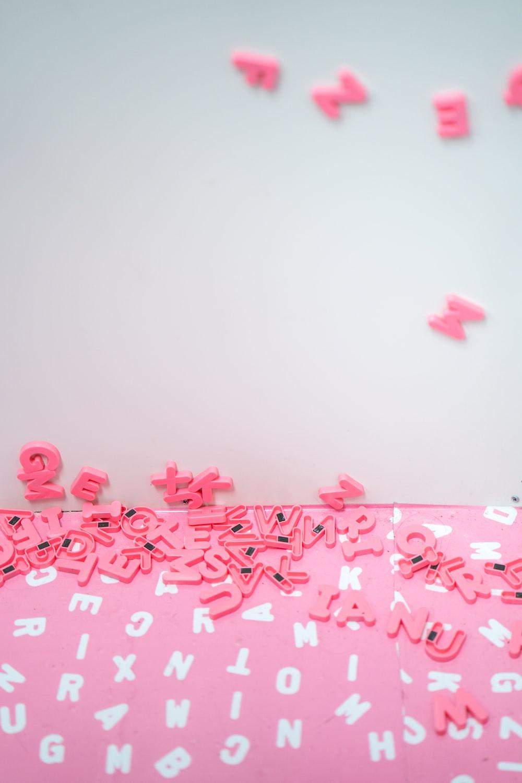 pink alphabet refrigerator magnet lot