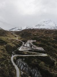 wavy road on mountain