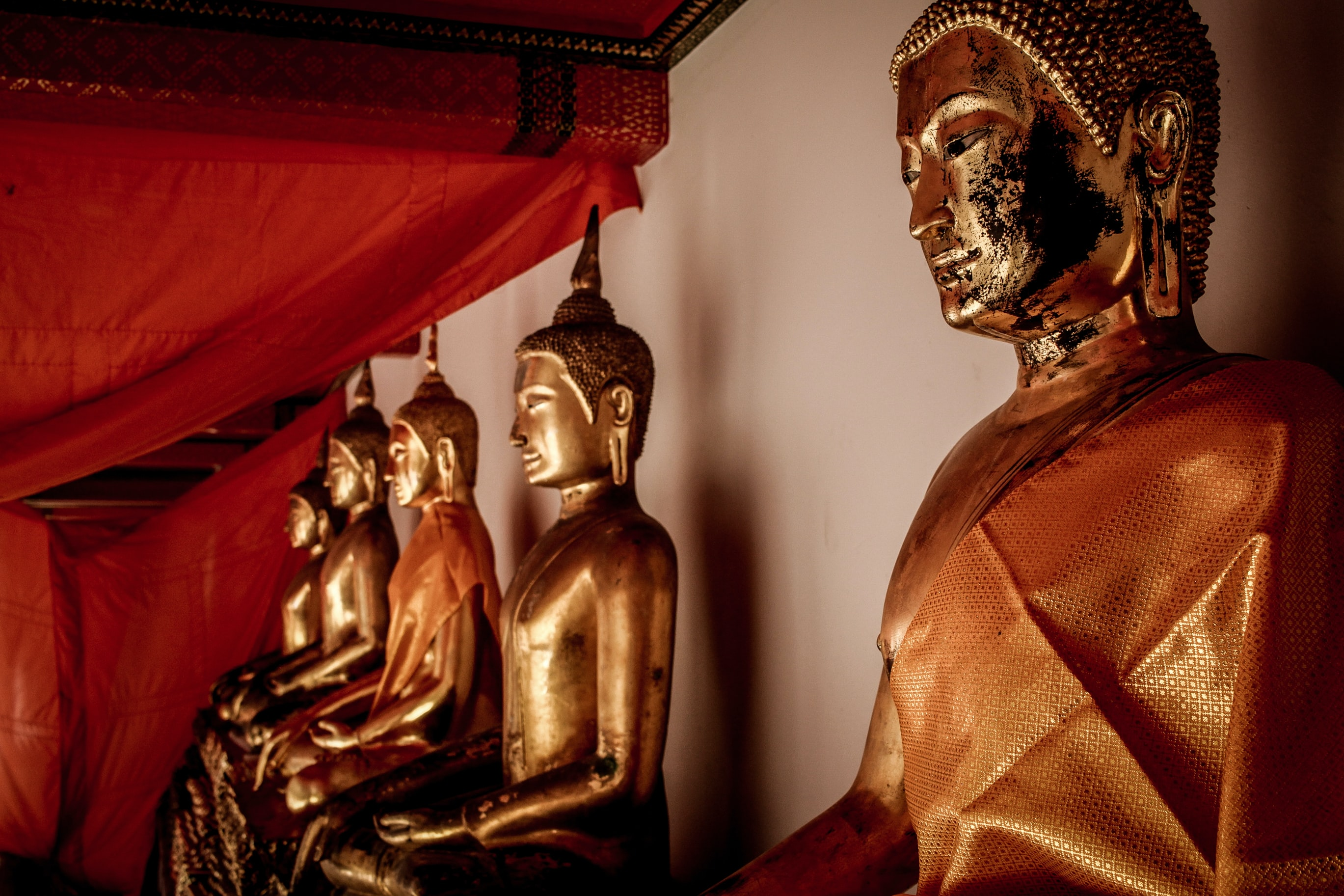 temple with Buddha statues