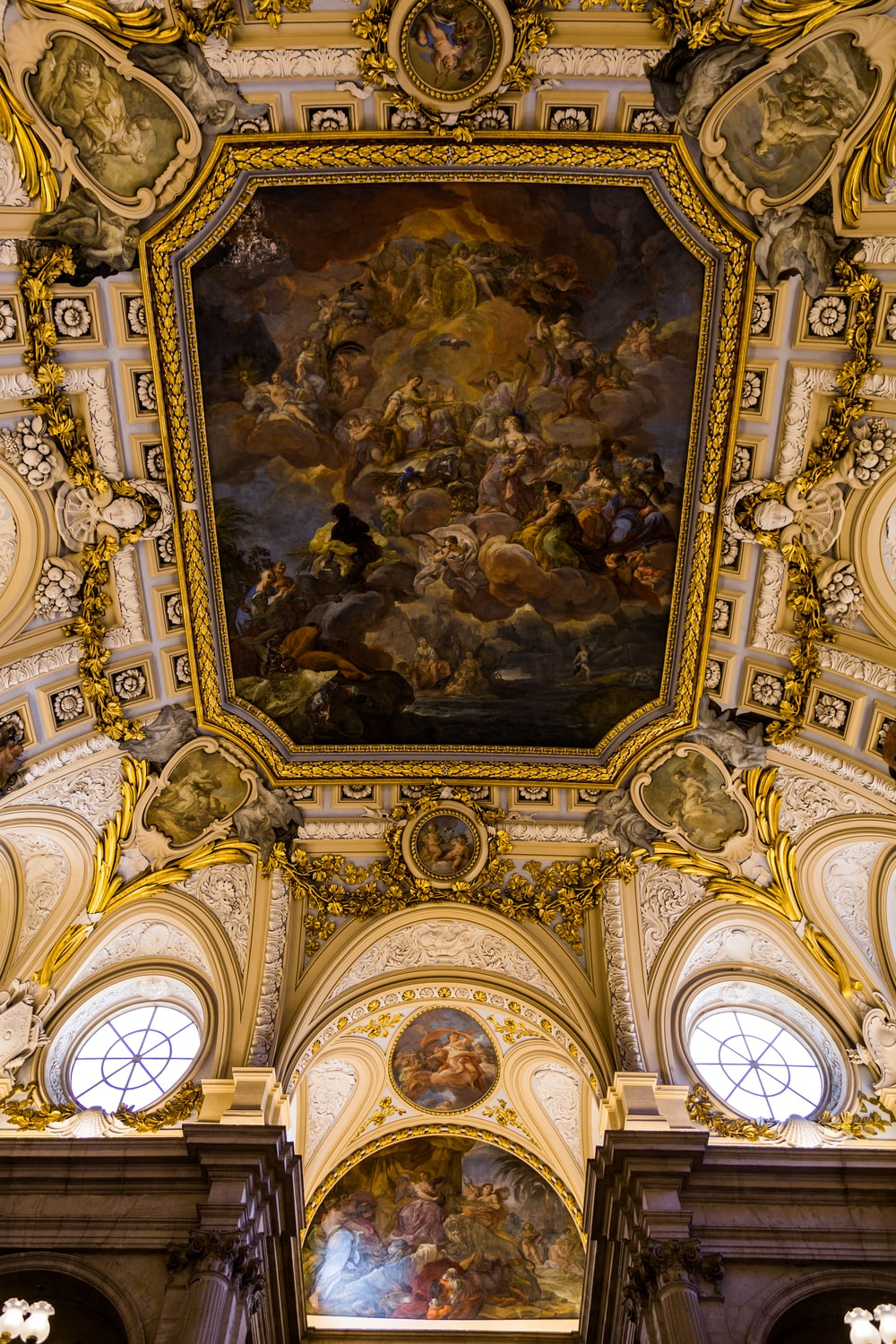 painting in cathedral ceiling