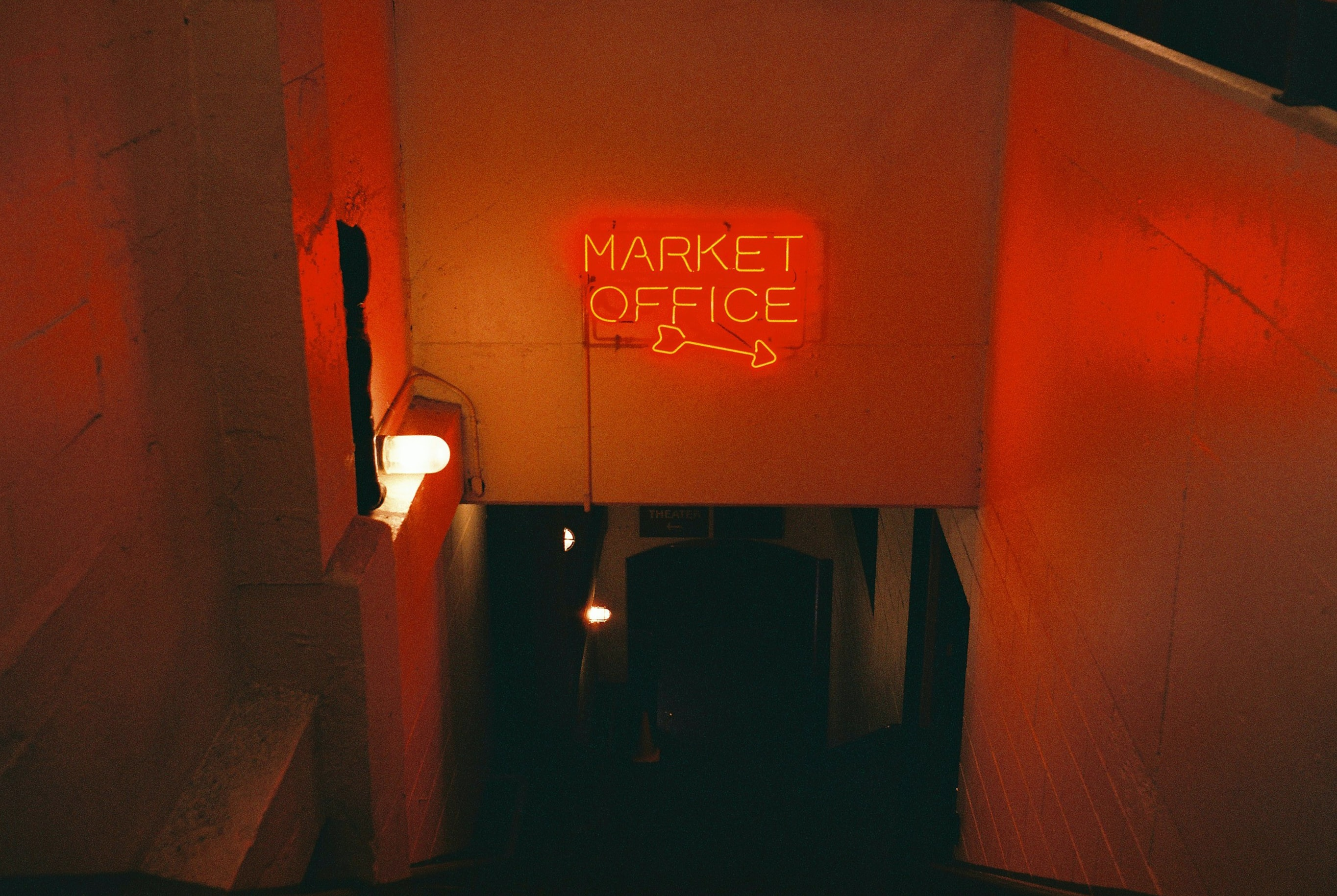 Market Office neon signage