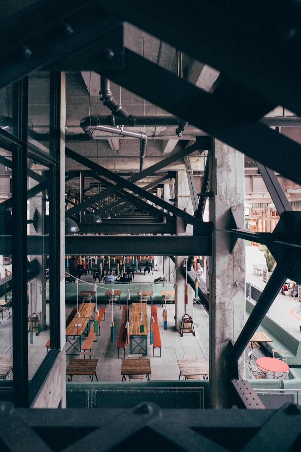 high angle photo of metal surface