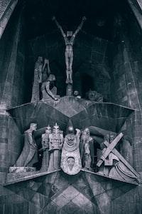 religious statue in building