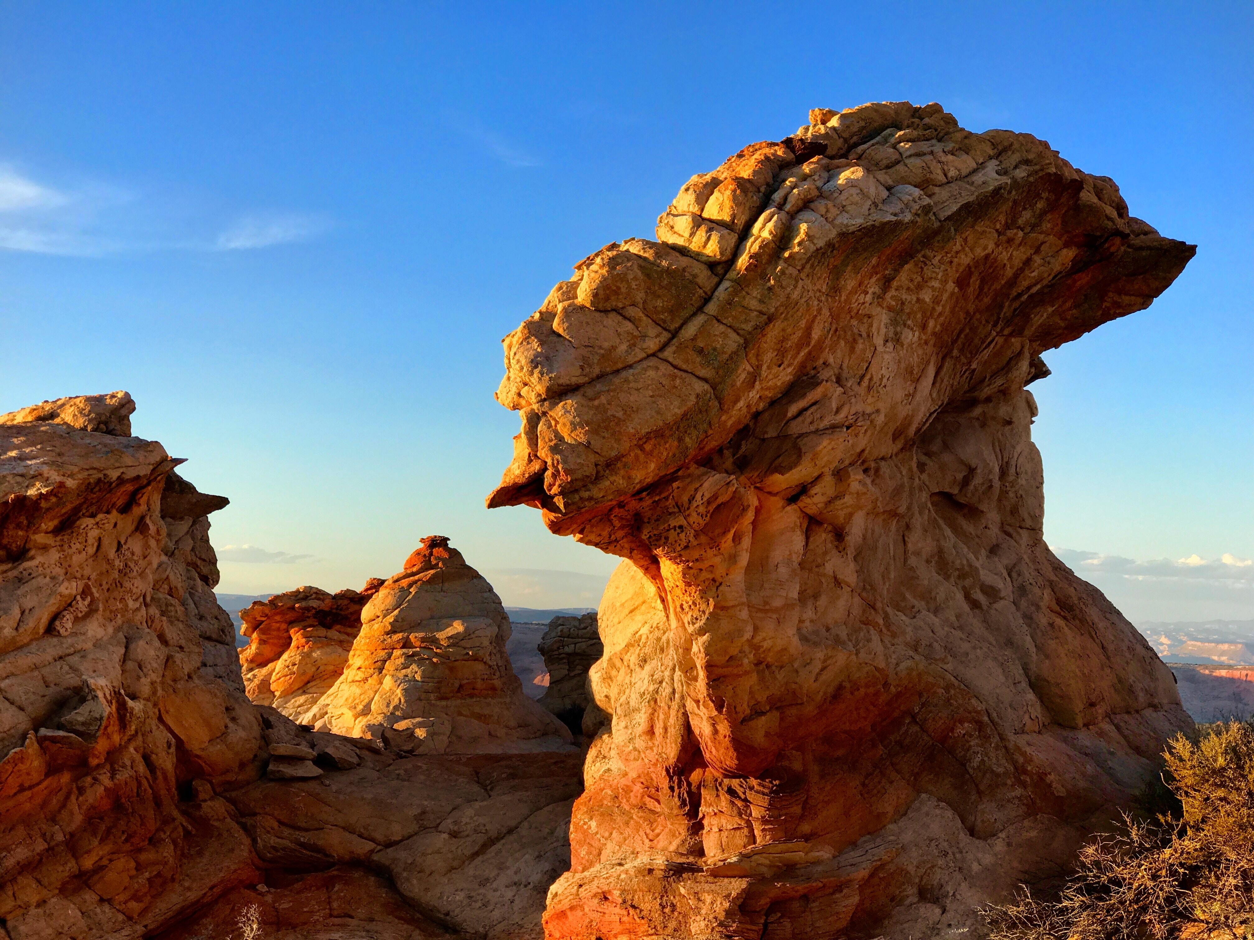 landscape photo of rock formation