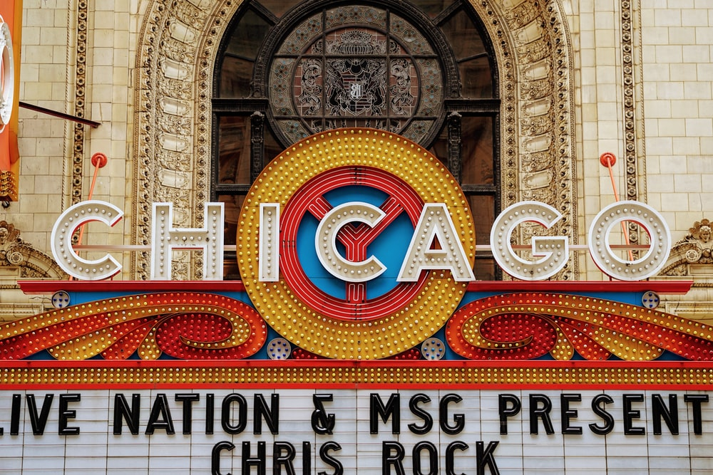 Chicago theater signage