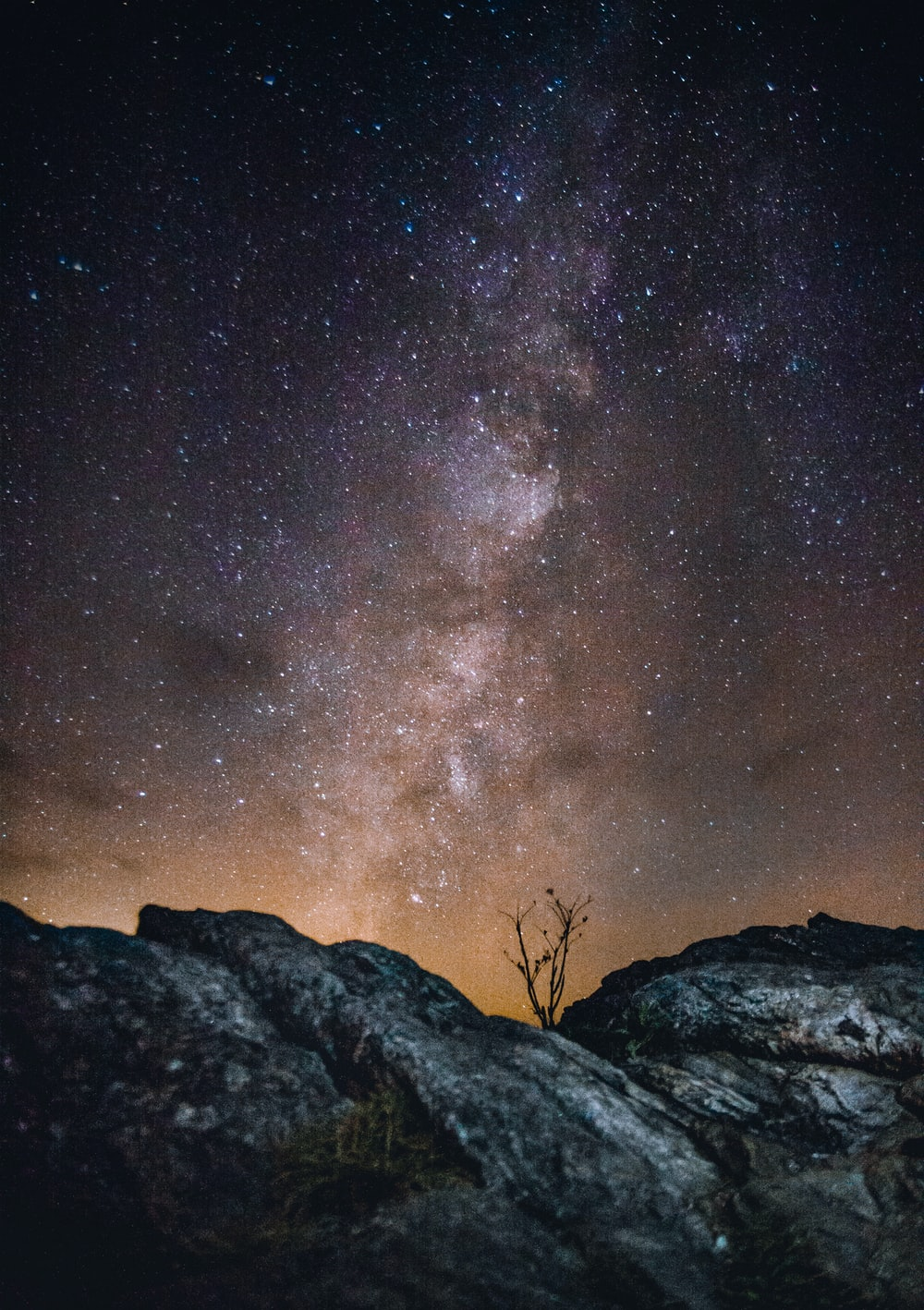 rock with background of stars