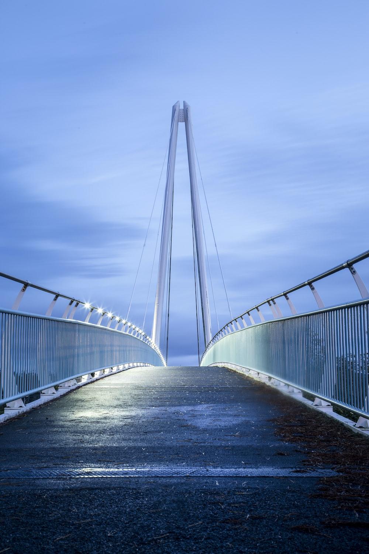 gray metal bridge photo