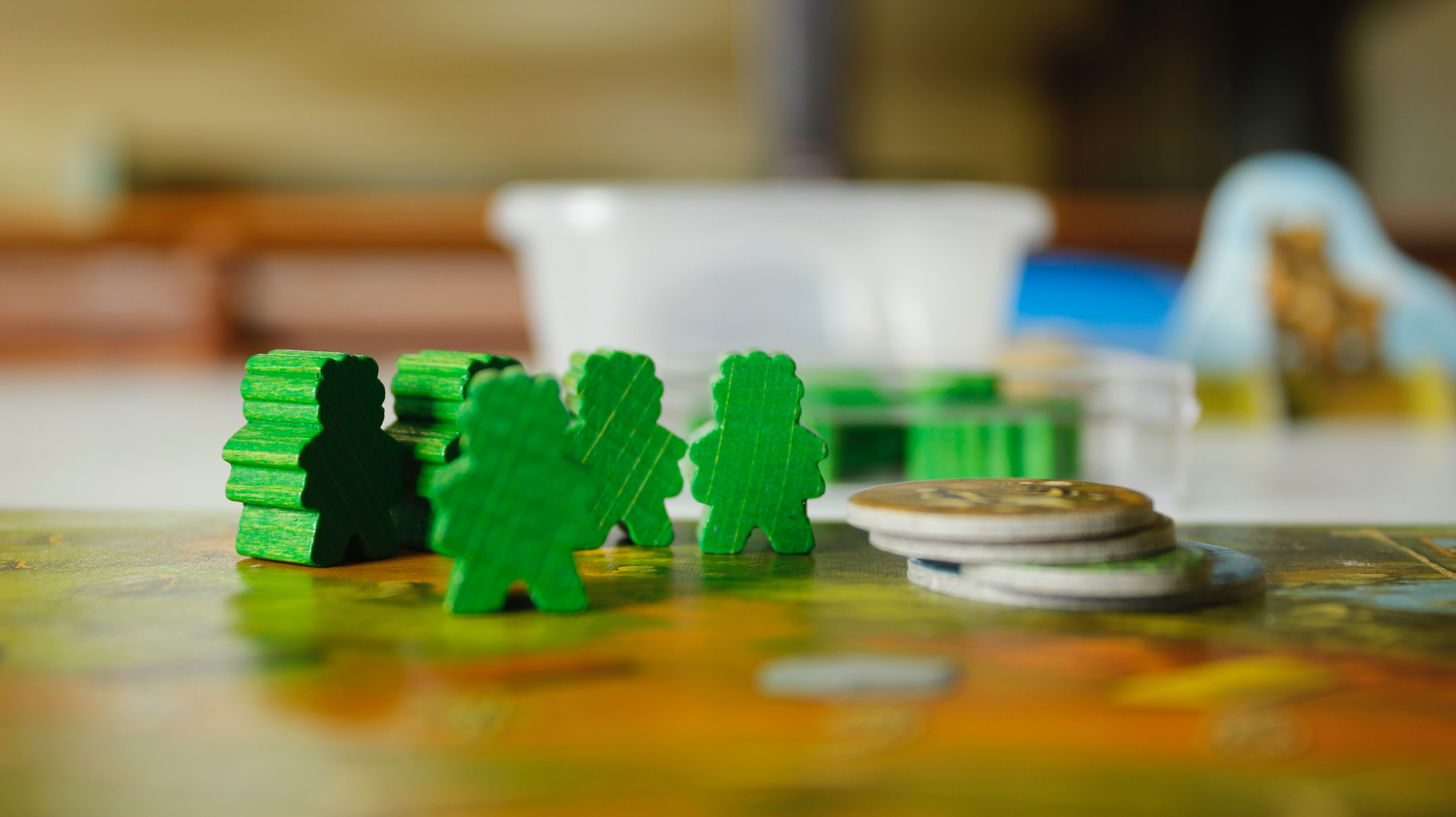 green wooden toys
