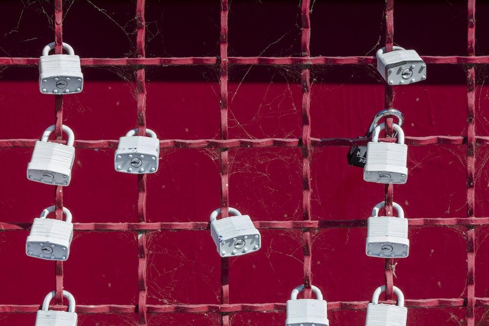 gray padlocks lot