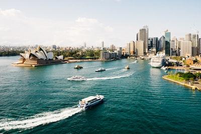 sydney, opera house during daytime australia zoom background