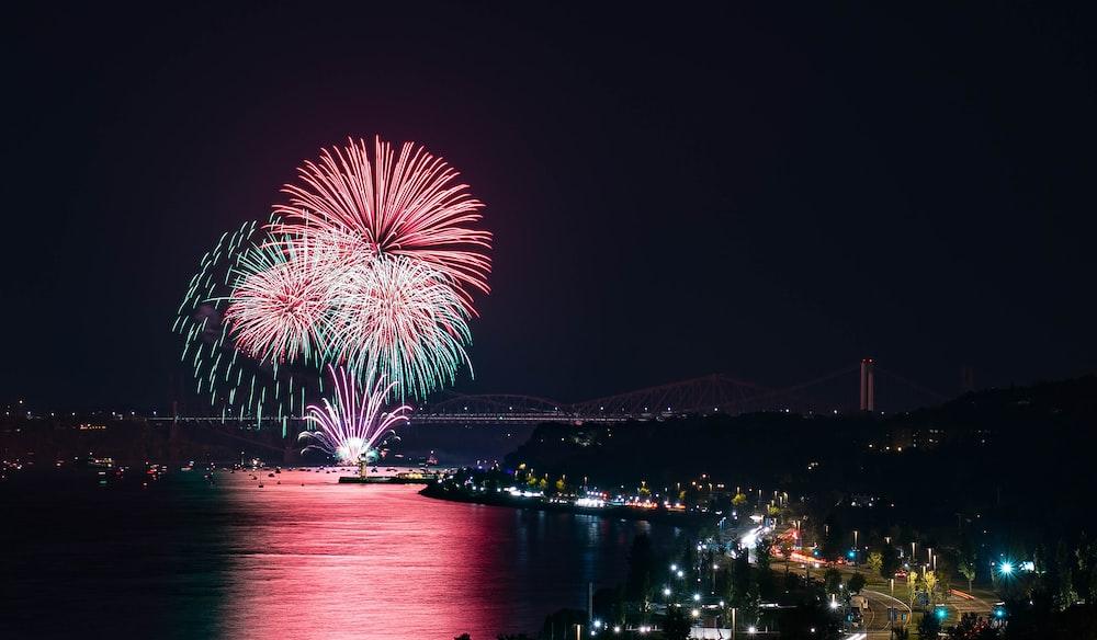 fireworks display during daytime