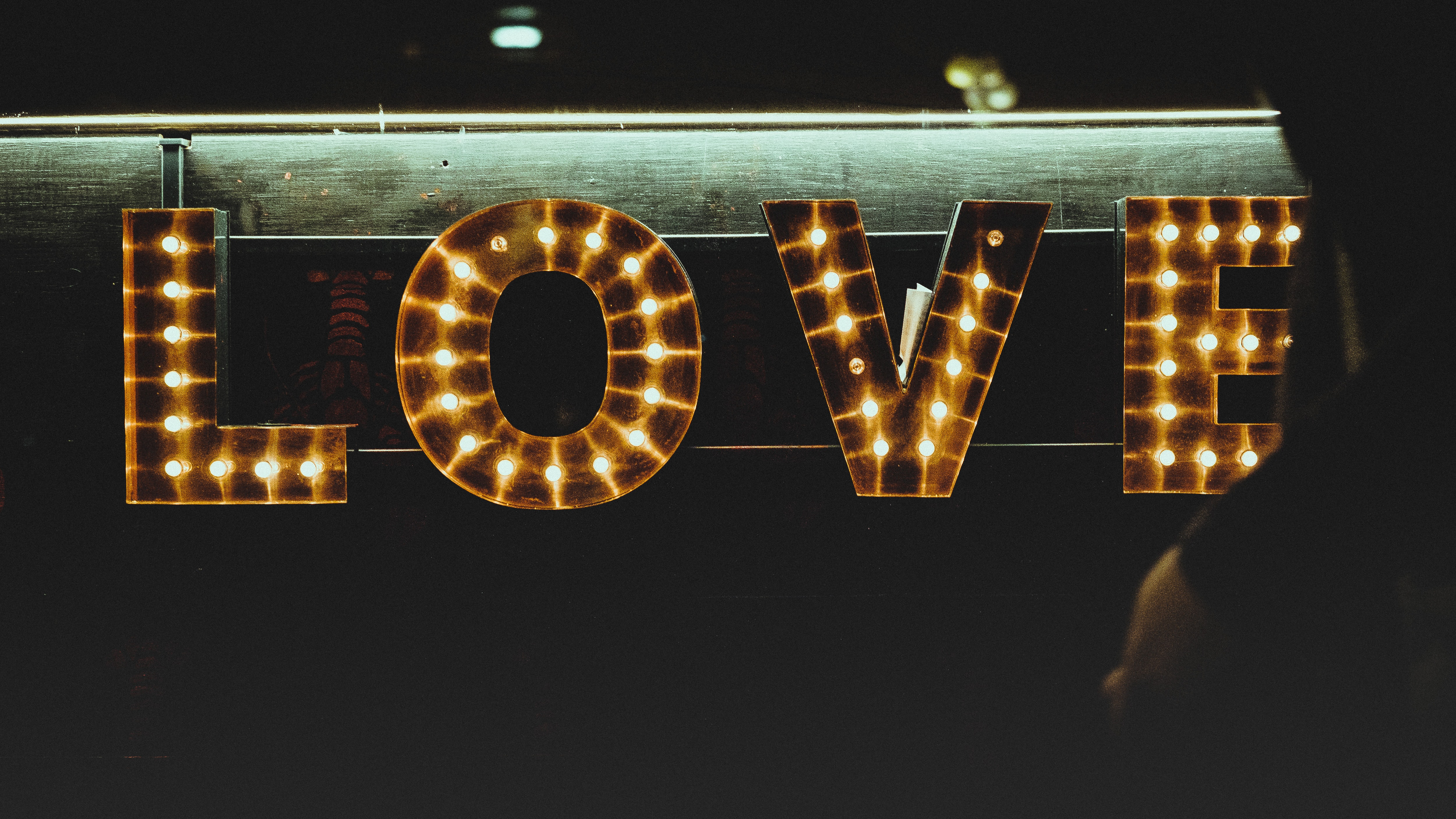 marquee love signage