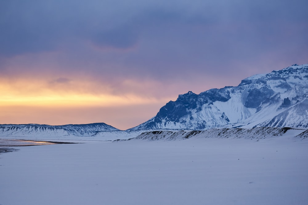 landscape photography of mountain in snow