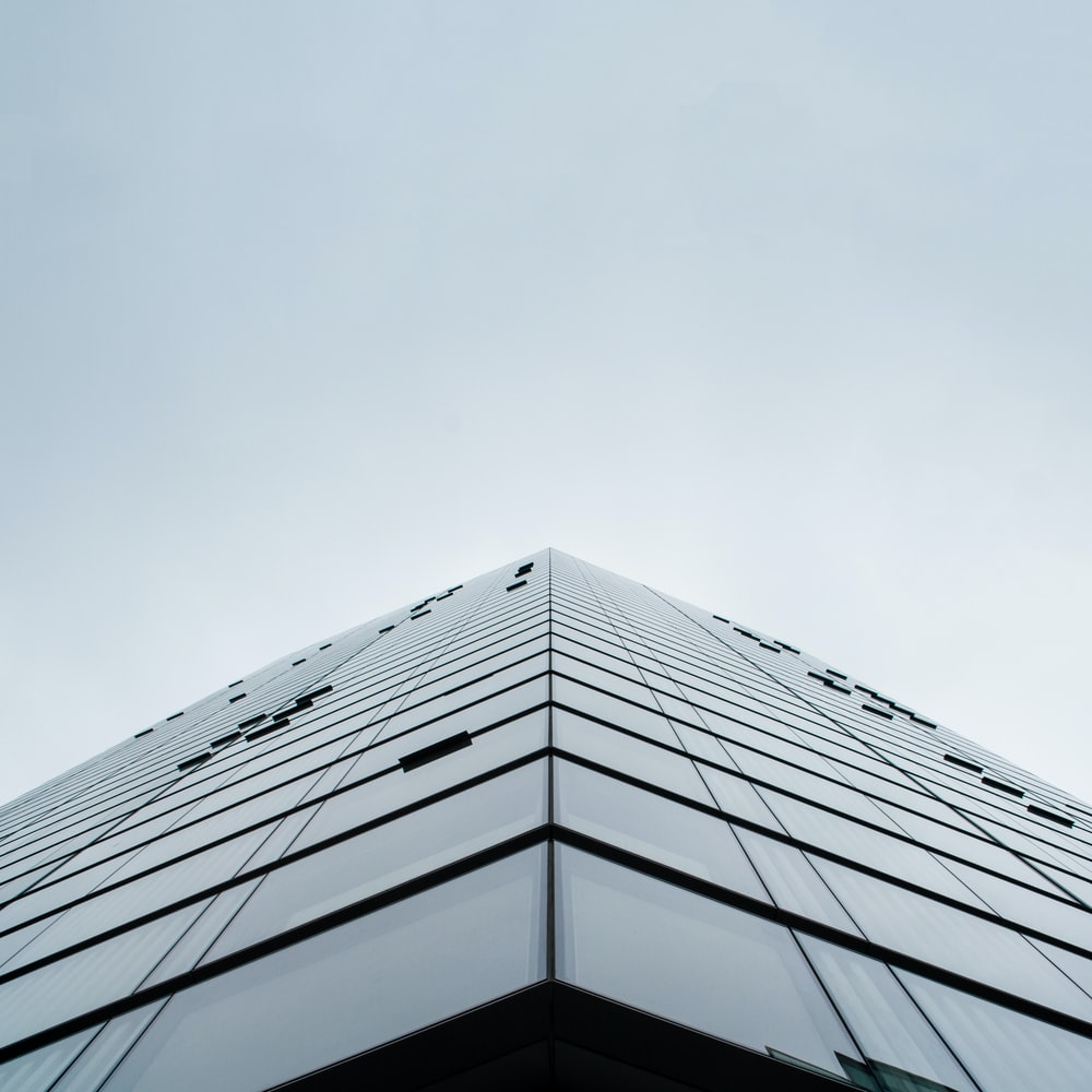 worms eye view of a building photo during daytime