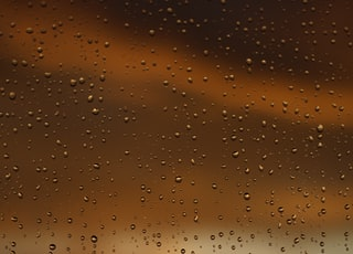 water droplets on glass pane