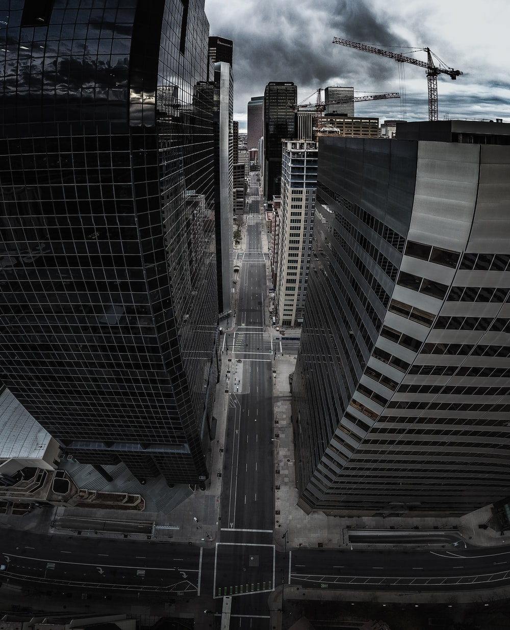 birds eye view photo of buildings