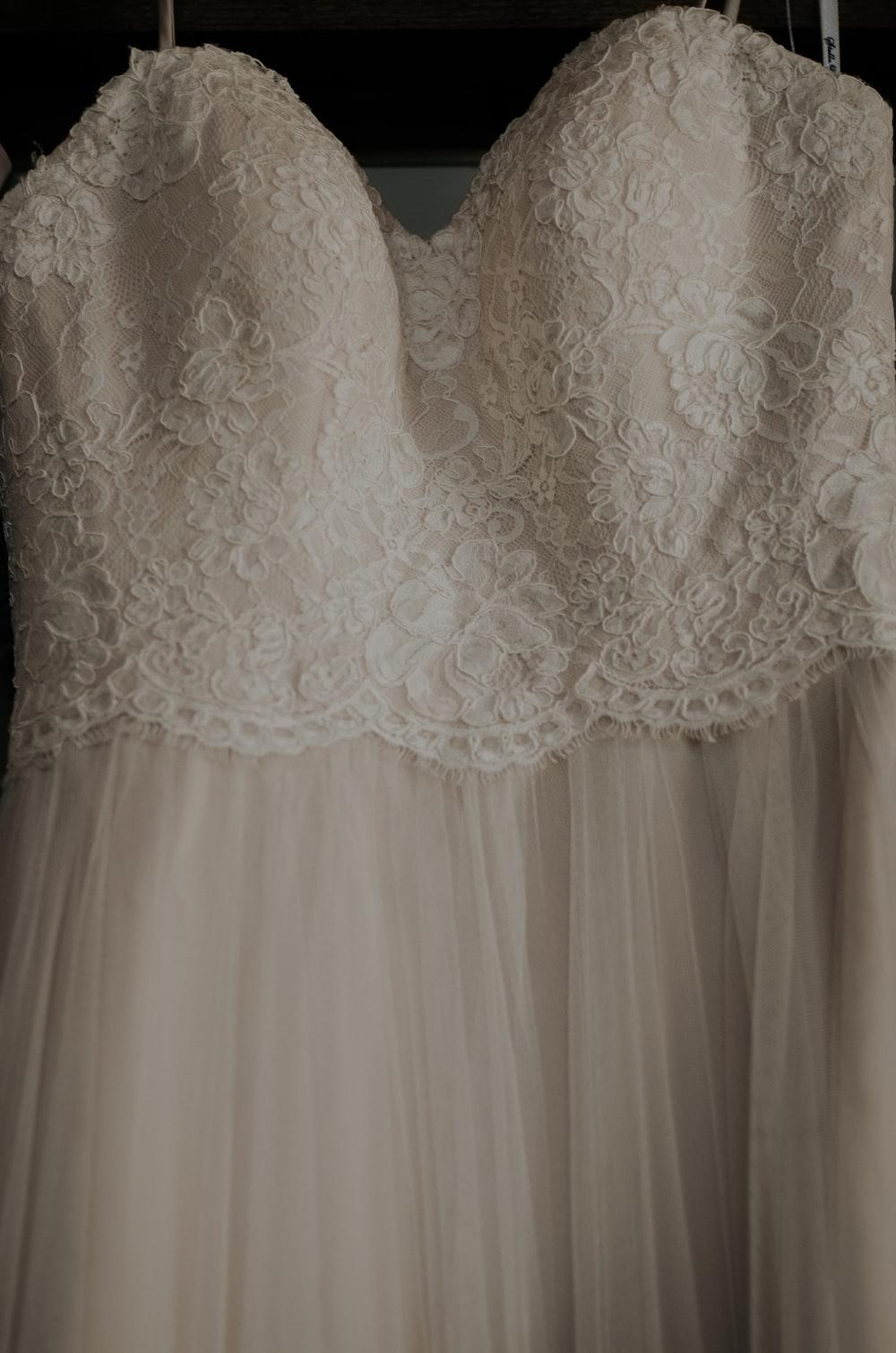 white lace spaghetti strap dress