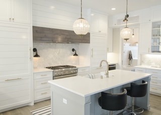 white kitchen room set