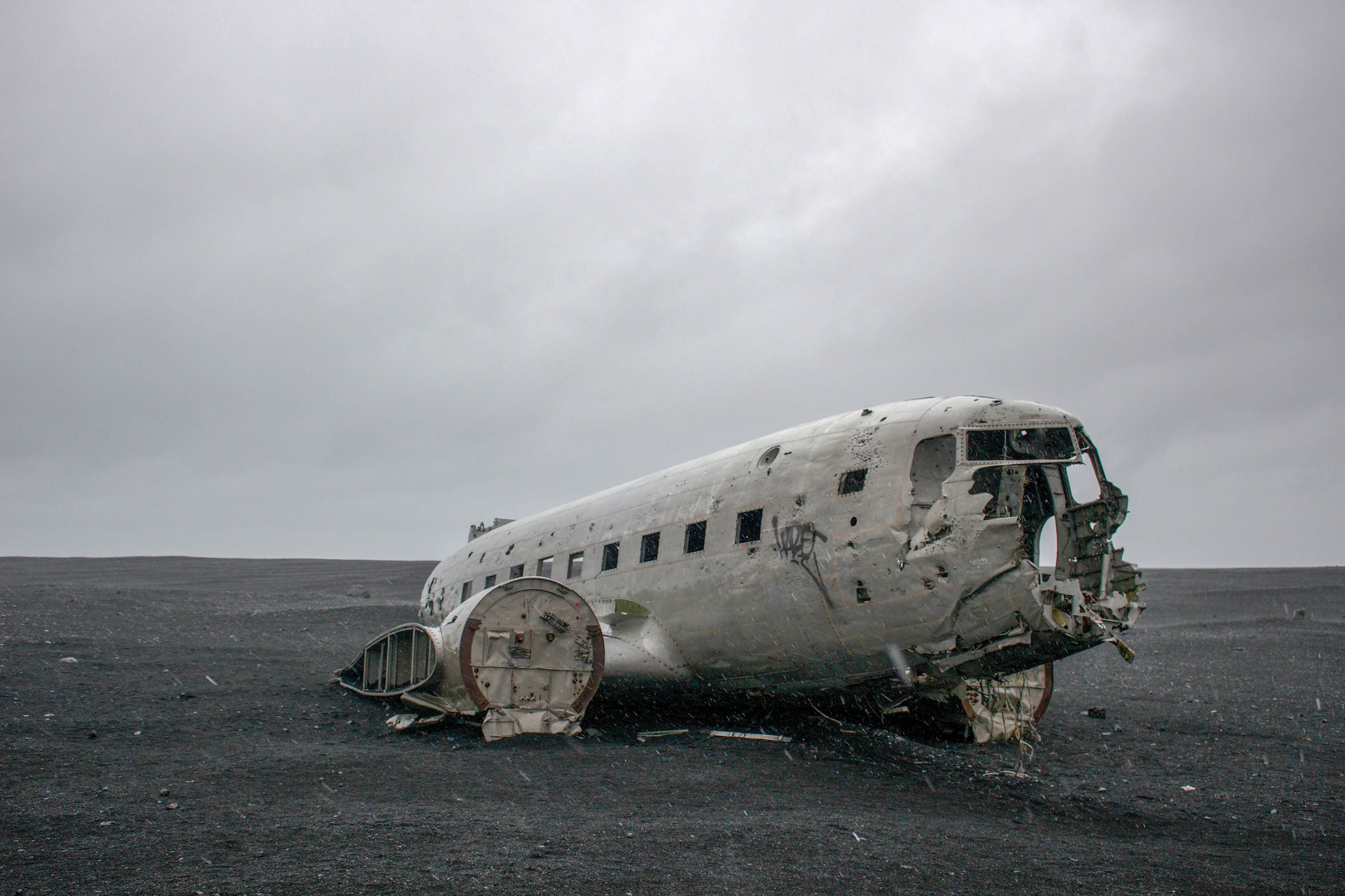 wrecked airplane