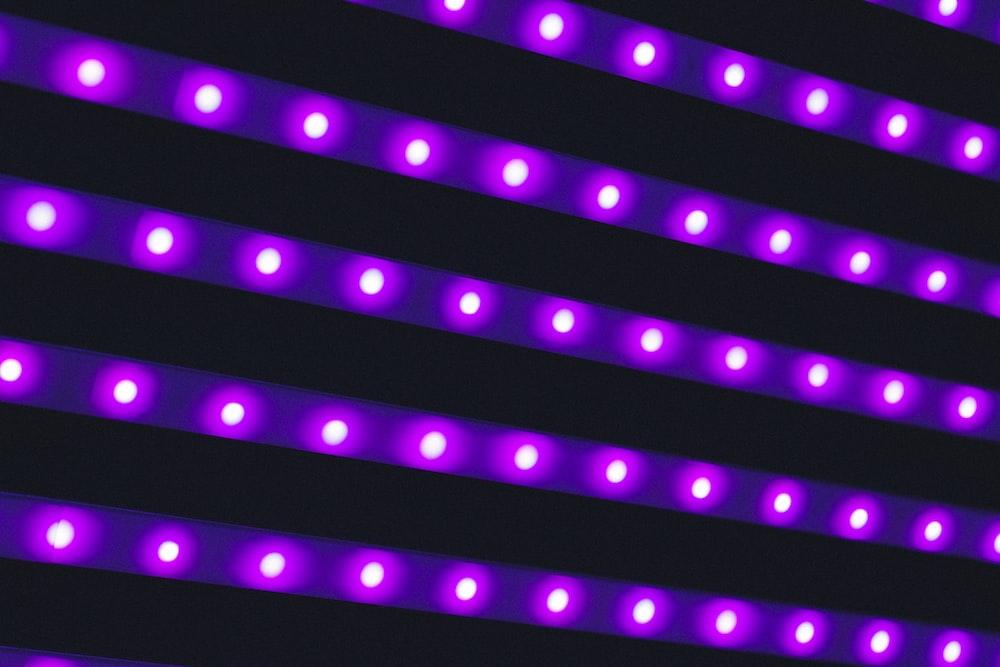photo of purple LED light