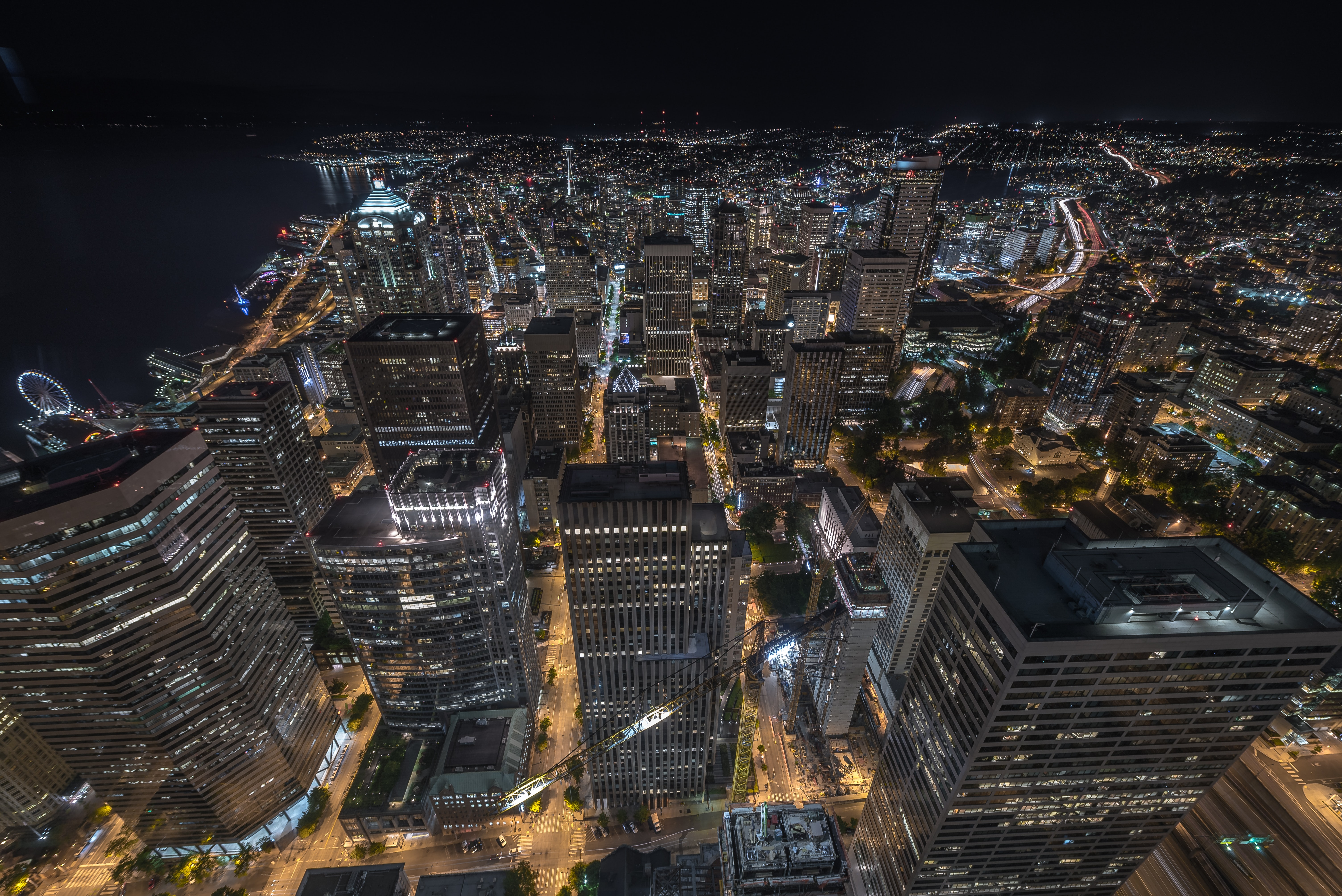 aerial photography of high rise buildings at daytime