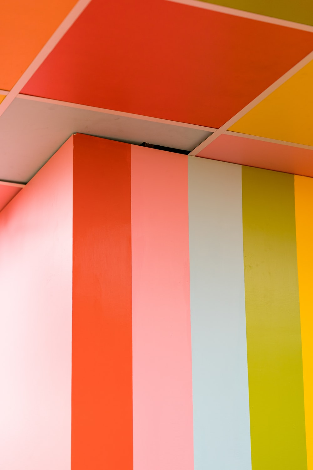 multicolored-painted wall