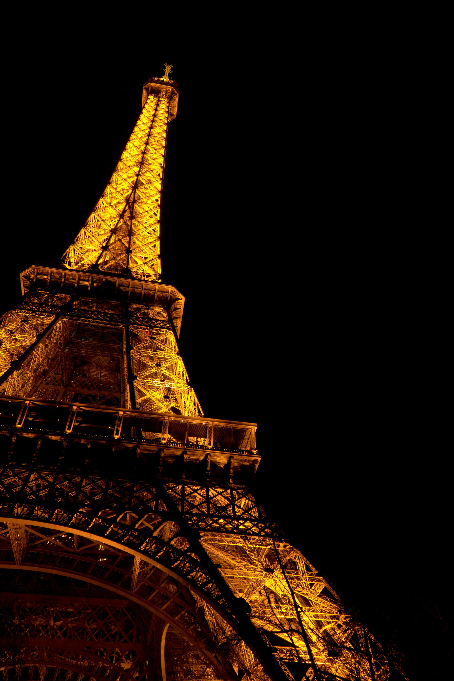 Eiffel Tower, Paris at nighttime