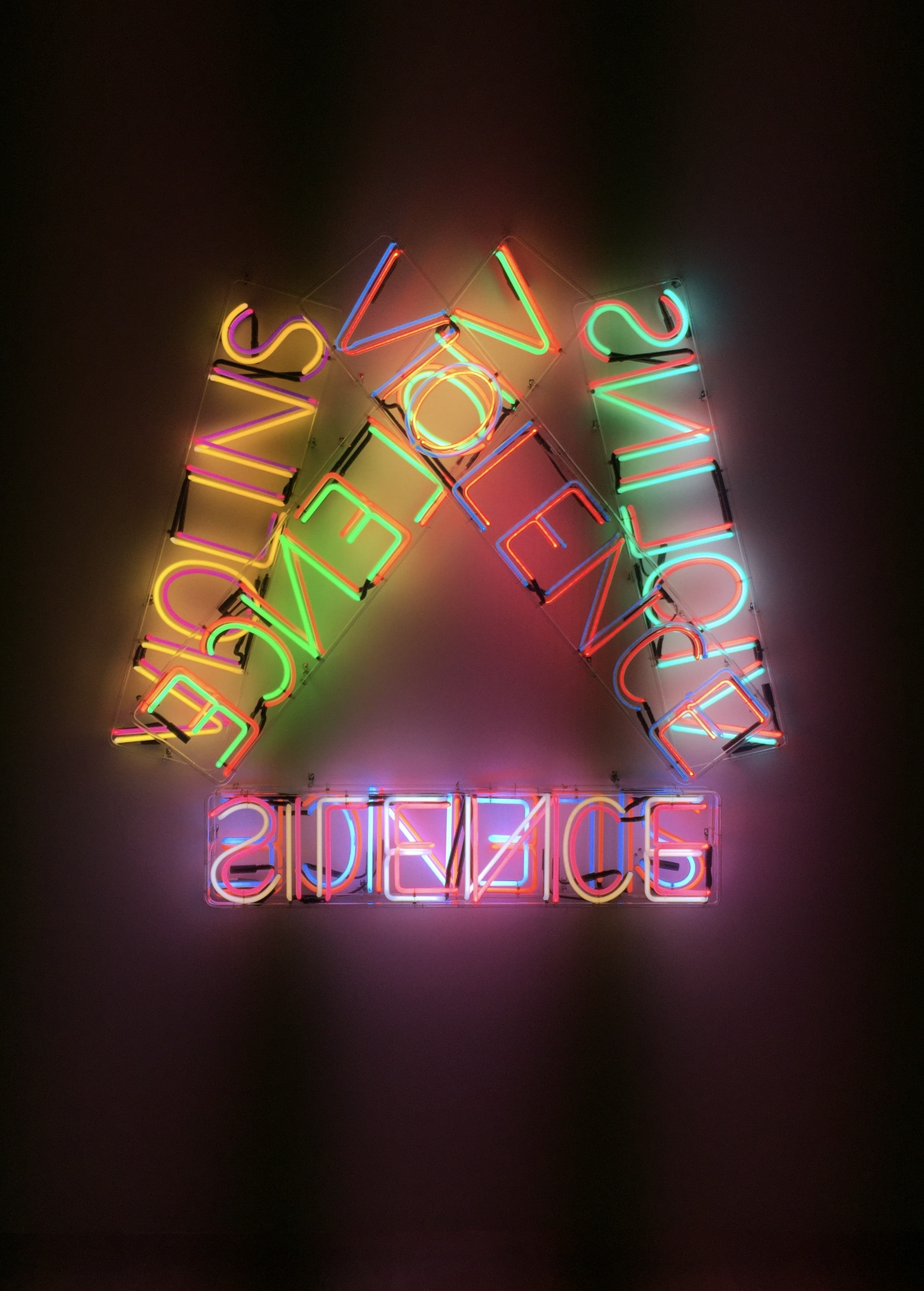 assorted-color-and-word neon signs