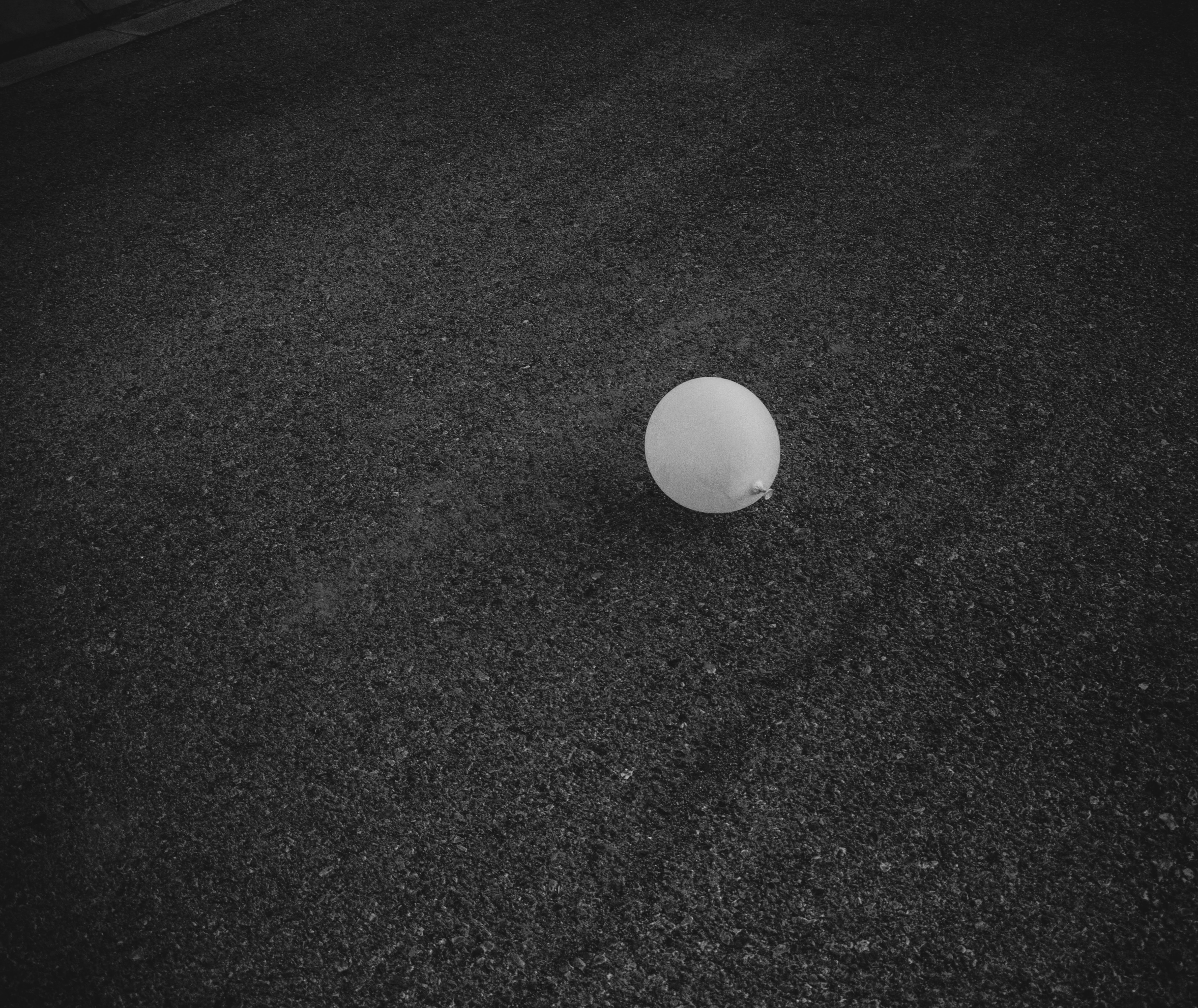 grayscale photo of balloon