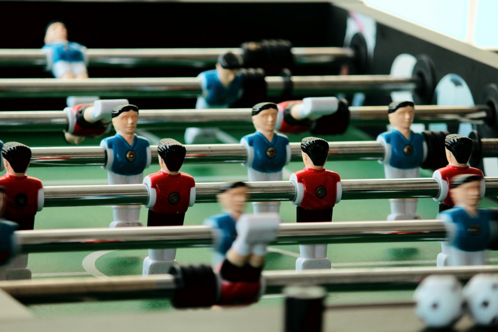 foosball table shallow focus photography