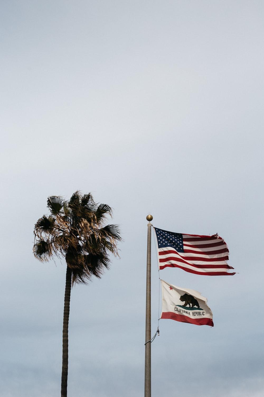 us a flag on flag pole